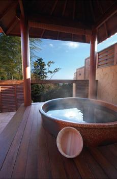 自由時間制 海の見えるガゼボ(東屋)貸切露天風呂